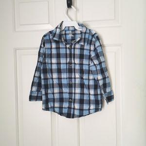 2/$20 Garanimals Plaid dress shirt boys size 3T